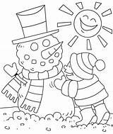 Coloring Winter Colouring Preschool Season Toddlers sketch template