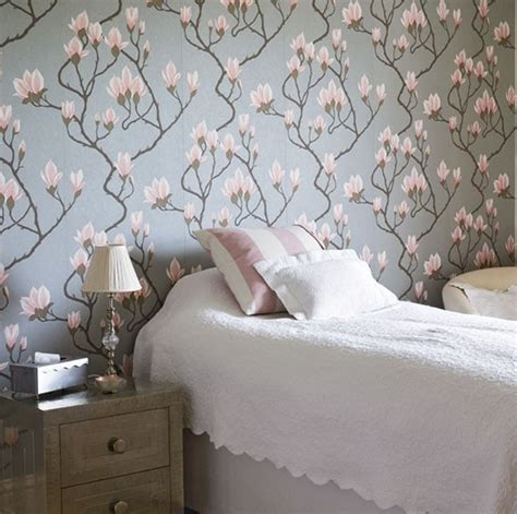 floral bedroom ideas  wallpaper theme home design