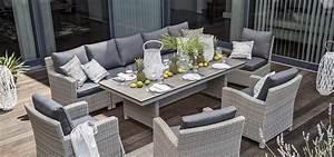 Moderne polyrattan loungem bel und loungegarnituren for Loungemöbel terrasse