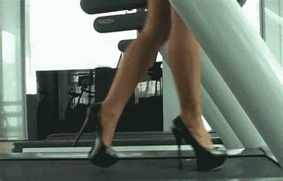 Gifs Heels Treadmill Walking Woman Heel Feet