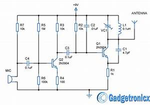 Mini Fm Transmitter Circuit Diagram Schematic Design Using