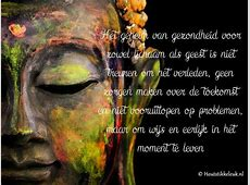 Boeddha op hout 'Het geheim van gezondheid