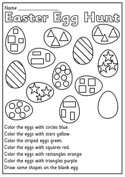 easter kindergarten worksheets coloring pages for
