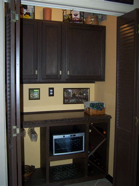 Bar Appliances by Small Appliance Closet Wine Bar Dining Room Makeover
