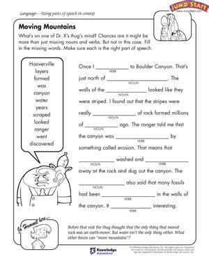 moving mountains free worksheet for rocking 5th grade worksheets