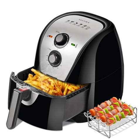 air fryer secura electric fryers extra recipes safe dishwasher oven capacity qt additional skewers xl quart oil airfryer sliver 3qt