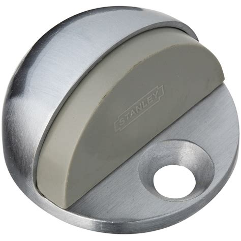 door stopper lowes shop stanley national hardware satin chrome low