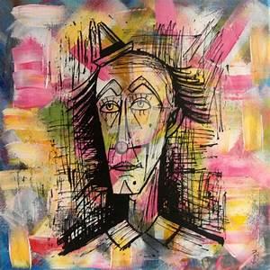Toile Street Art : clown georges buffet portraits tableau celebre toile pop street art graffiti pyb paris toulouse ~ Teatrodelosmanantiales.com Idées de Décoration