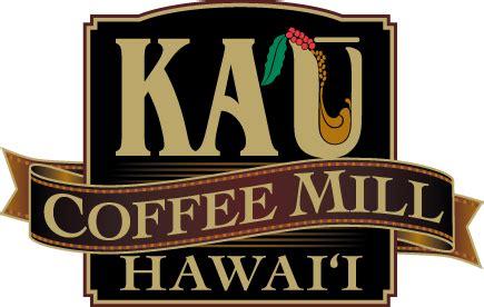 Vector flat coffee logo sample. Ka'u Coffee Mill   Destination Hilo