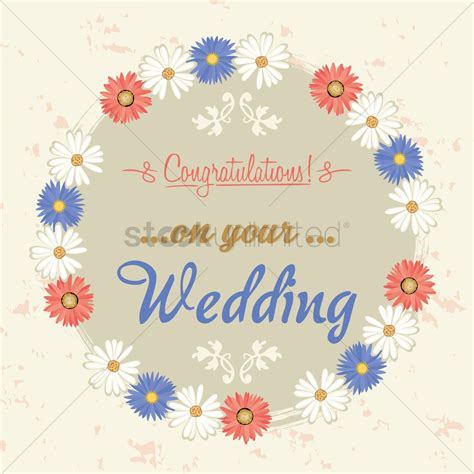 congratulations   wedding label vector image