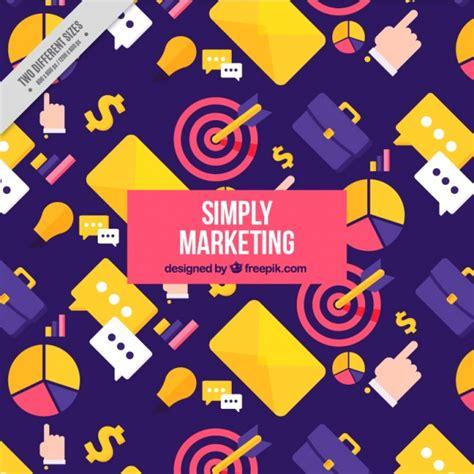 Marketing Background Marketing Background With Colorful Items In Flat Design