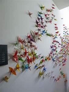 Kleine Glasvitrine Für Die Wand : 1000 kraniche f r die wand pelz origami und w nde ~ Markanthonyermac.com Haus und Dekorationen