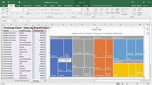 Create Treemap Charts In Excel 2016