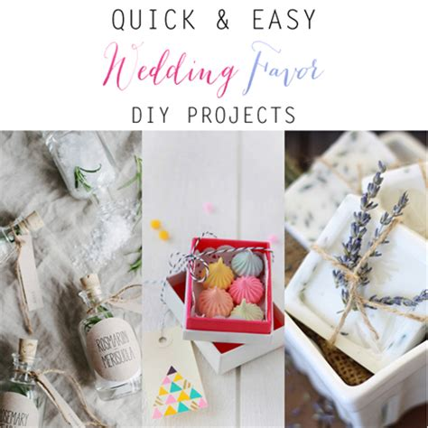 quick  easy wedding favor diy projects  cottage market