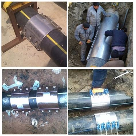 water pipe repair clamp  rubber gasket insert