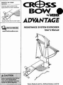 Weider 831153961 User Manual Crossbow Advantage Manuals