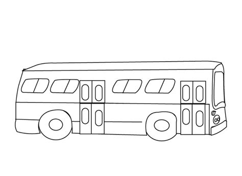bus coloring pages    print