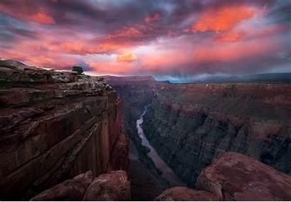 Canyon Grand Sunset Arizona Wallpapers Sky Park