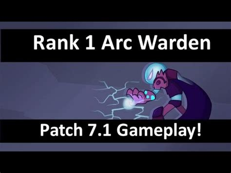 arc warden patch  top  arc warden ranked dota  gameplay youtube
