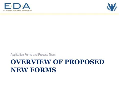eda proposed forms and application process