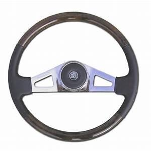 18in Wood Steering Wheel - 2 Spoke - Pete  U0026 Kenworth
