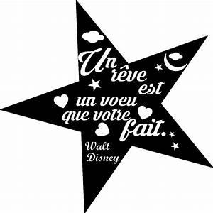 Stikcker citation Un rêve est un voeu (Walt Disney) Stickers Citations Français Ambiance sticker