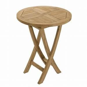 Table Ronde En Teck : table de jardin en bois ronde table jardin ronde metal ~ Teatrodelosmanantiales.com Idées de Décoration