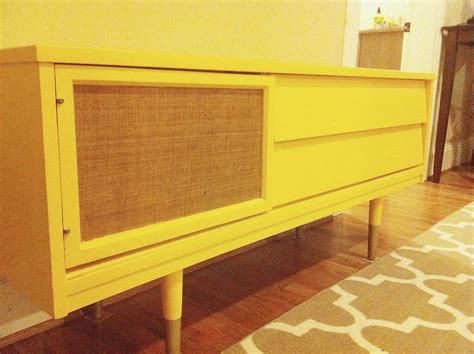 hometalk upcycled mid century tv stand