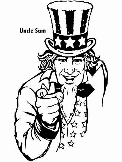July 4th Coloring Pages Uncle Sam Colouring