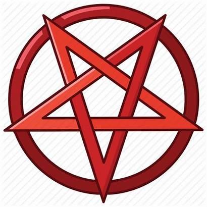 Satanism Satanic Pentagram Devil Satan Star Icon