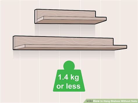 floating wall shelf wood how to hang shelves without nails 11 steps with pictures