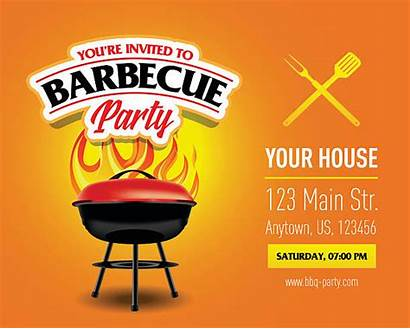 Barbecue Bbq Party Flyer Advertisement Template Invitation