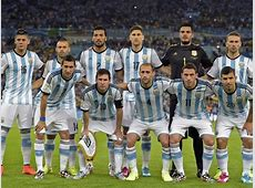 Argentina's national team players pose during the Group F