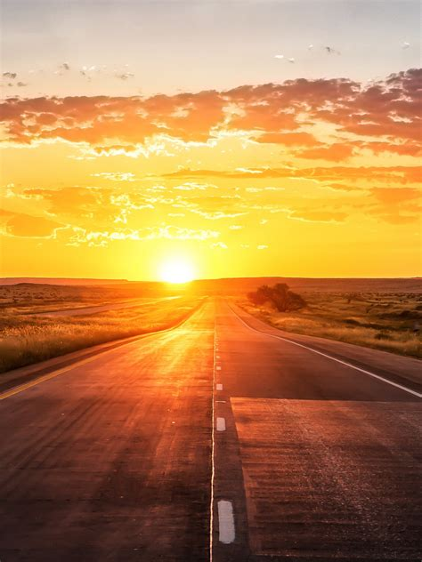 wallpaper sunset highway  world