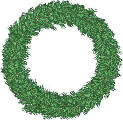 vector graphic wreath christmas holiday green