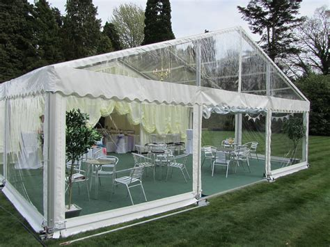 marquee tent  clear gable   churchill marquees