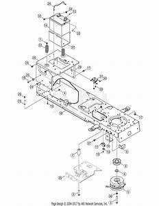 Mtd 13ap625k730  2007  Parts Diagram For Pto  U0026 Frame