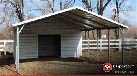 Carport Boxed Eave Roof 18' X 26'  Shop Metal Carports