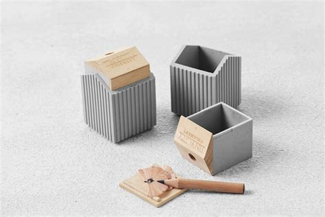 accessory design concrete goes soft in these desk accessories design milk