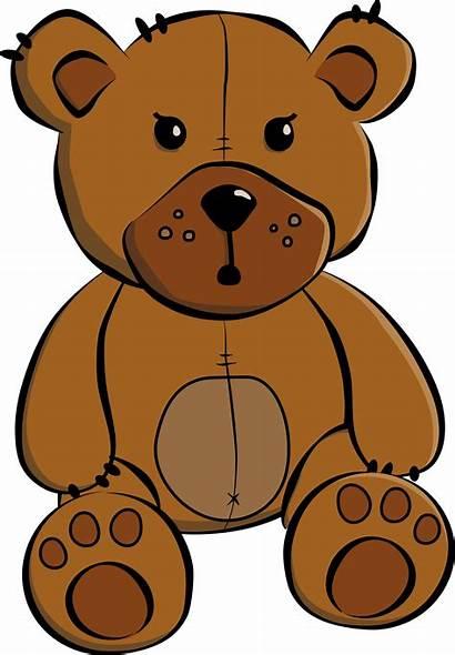 Bear Teddy Clip Clipart Svg Christmas Cartoon