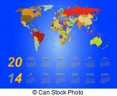 calendar agenda world map