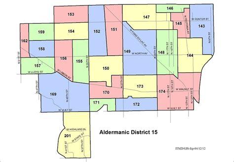 map aldermanic district voting wards