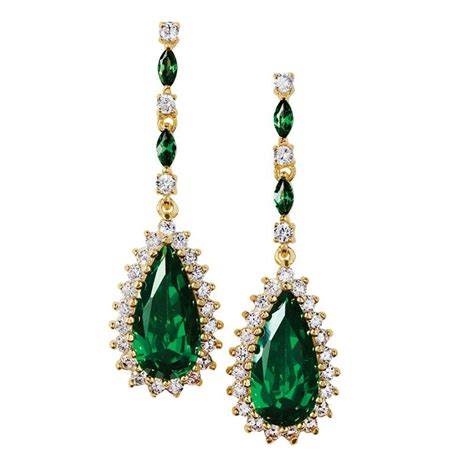 Helenite Teardrop Necklace & Earrings Set 29313