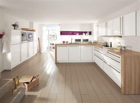charmant cuisine blanc et bois avec cuisine moderne blanche bois et collection des photos