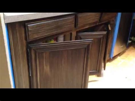 antiquing cabinets with stain antique gel stain glaze on light cabinets youtube
