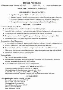 Skills Customer Service Resume