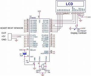 Heartbeat Sensor Circuit Daigram Working With 8051