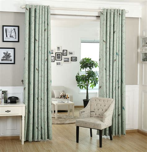 green blackout curtains american pastoral style drapes