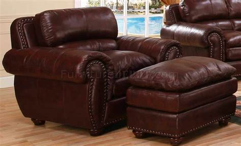 Loveseat And Chair Set by Brown Bonded Leather Contemporary Sofa Loveseat Set W
