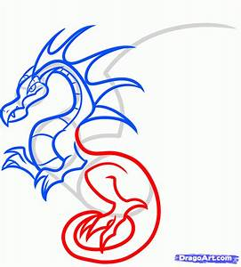 How to Draw a Flying Dragon For Kids, Step by Step ...